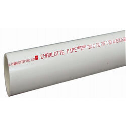 Charlotte Pipe  Schedule 40  PVC  Pipe  1-1/2 in. Dia. 5 ft. Plain End  330 psi