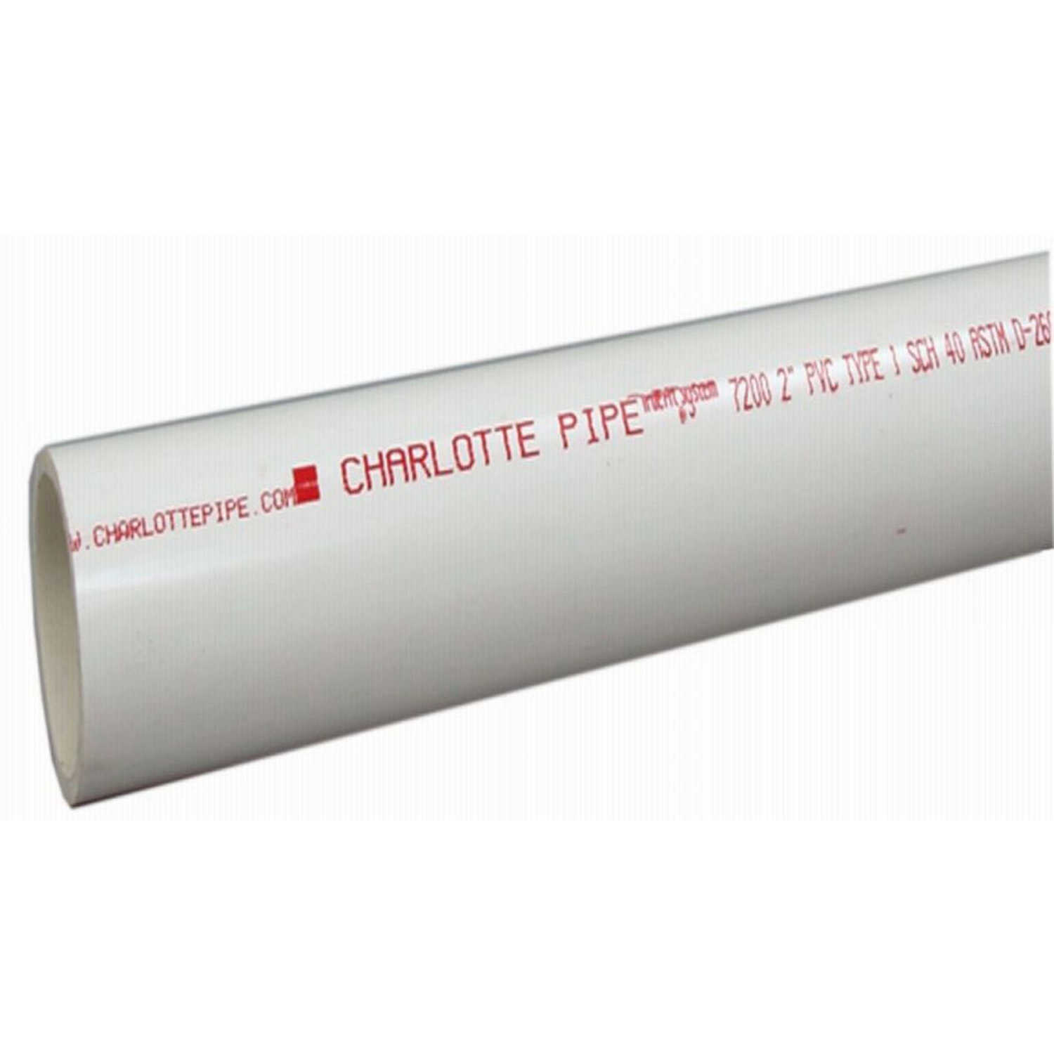 Charlotte Pipe  Pipe  1-1/2 in. Dia. x 5 ft. L Plain End  Schedule 40  330 psi