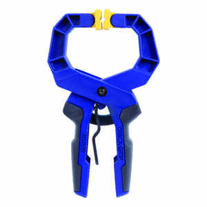 Irwin  Quick-Grip  2 in.  x 2 in. D Resin  Locking  Handi-Clamp  60 lb. capacity Blue  1 pc.