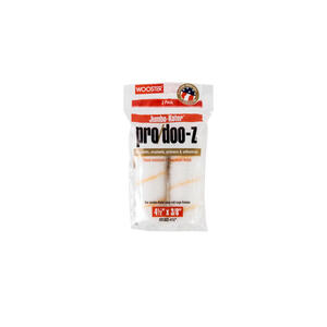 Wooster  Pro/Doo-Z  Fabric  3/8 in.  x 4-1/2 in. W Mini  Paint Roller Cover  For Smooth Surfaces 2 p