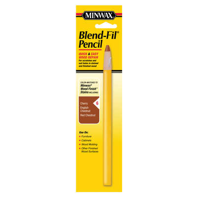 Minwax  Blend-Fil No. 6  Cherry, Chestnut, English Chestnut, Red Walnut  Wood Pencil  1 oz.