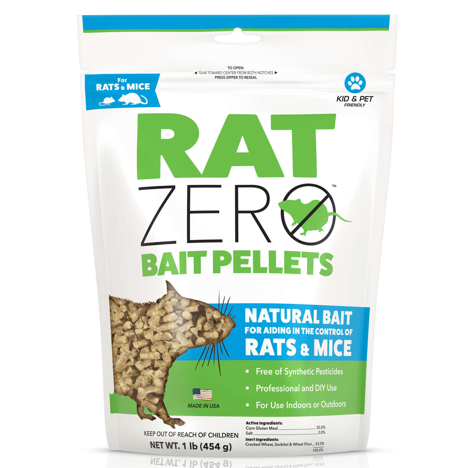 Scotts  Zero  Bait  Pellets  For Mice and Rats 1 lb. 1 pk