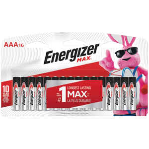 Energizer  MAX  AAA  Alkaline  Batteries  16 pk Carded