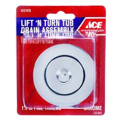 Ace  1-1/4 in. Chrome  Zinc  Drain Protector
