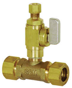 Sioux Chief  Add-A-Line  5/8  Brass  Compression  Ball Valve