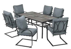 Living Accents  7 pc. Edge Water  Dining Set  Blue