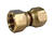 JMF  1/4 in. Flare   Brass  Swivel Connector
