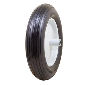 Marathon  8 in. Dia. x 15.5 in. Dia. 500 lb. capacity Centered  Wheelbarrow Tire  Rubber  1 pk