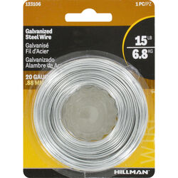 Hillman 175 ft. L Galvanized Steel 20 Ga. Wire