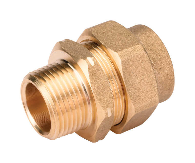 Home-Flex  3/4 in. Male   x 3/4 in. Dia. CSST  Brass  Metal  Male Adapter