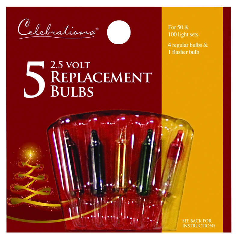 Celebrations  Mini  Incandescent  Christmas Light Bulbs  Multicolored  5 lights