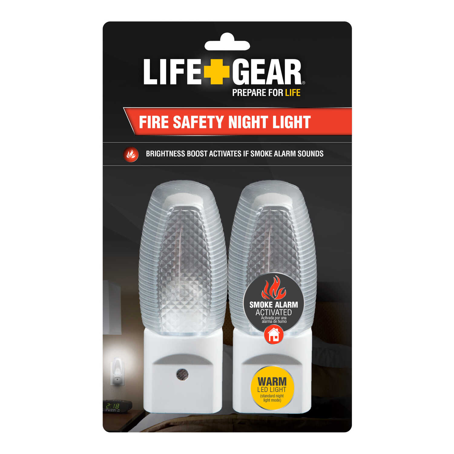 Life Gear  Automatic  Plug-in  LED  Fire Safety Night Light