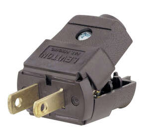 Leviton  Residential  Thermoplastic  Non-Grounding  Polarized Plug  1-15P  20-16 AWG 2 Pole, 2 Wire