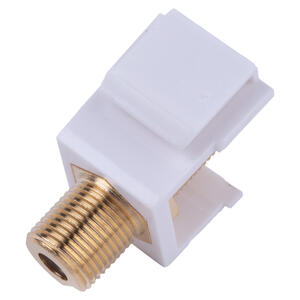 Monster Cable  Just Hook It Up  F-Connector  F  Coaxial  Connector Keystone Insert  1 pk