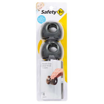 Safety 1st  Charcoal  Plastic  Door Knob Covers  4 pk