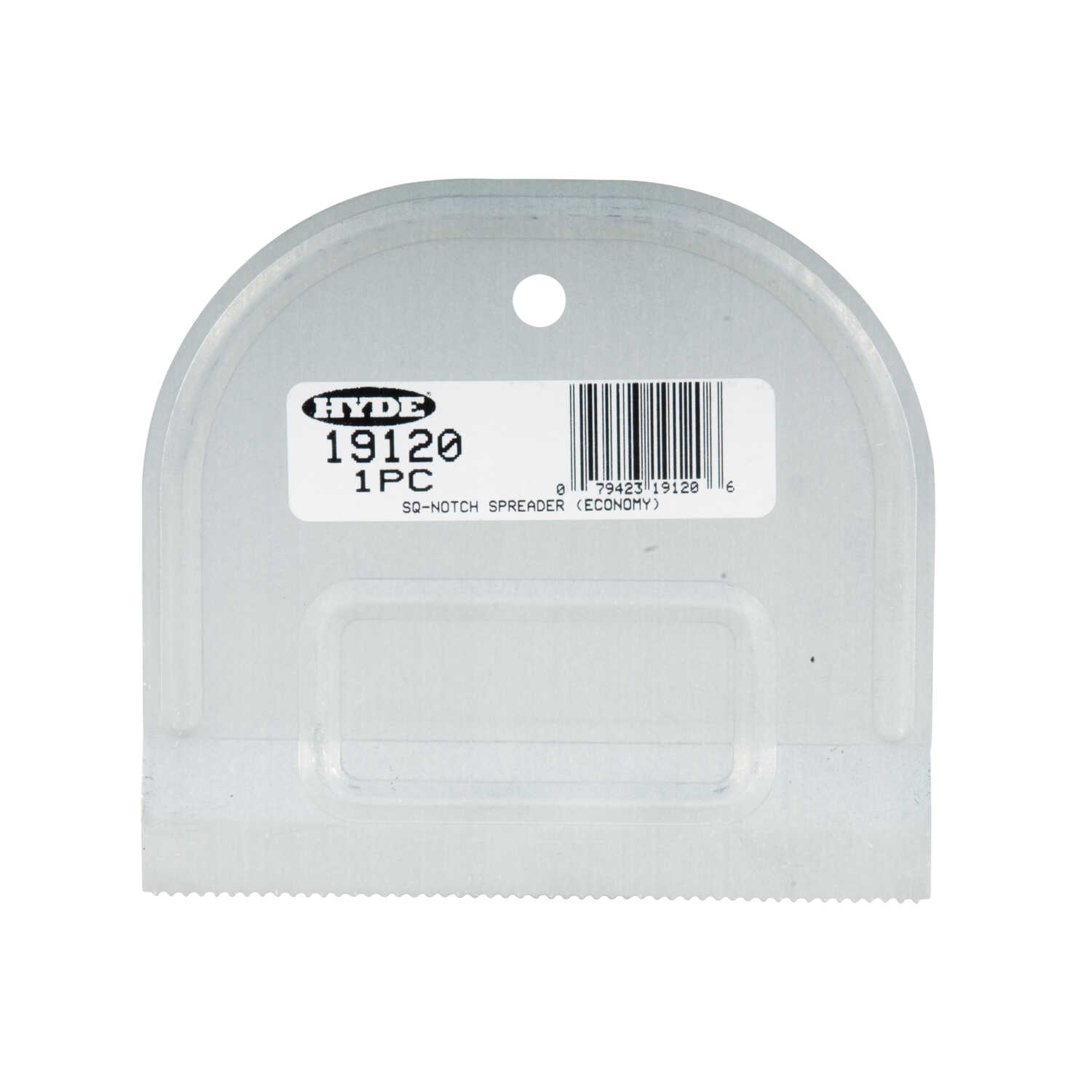 Hyde  Value Series  0.63 in. H x 4.8 in. W x 4.8 in. L Steel  Spreaders Notch  25 pk