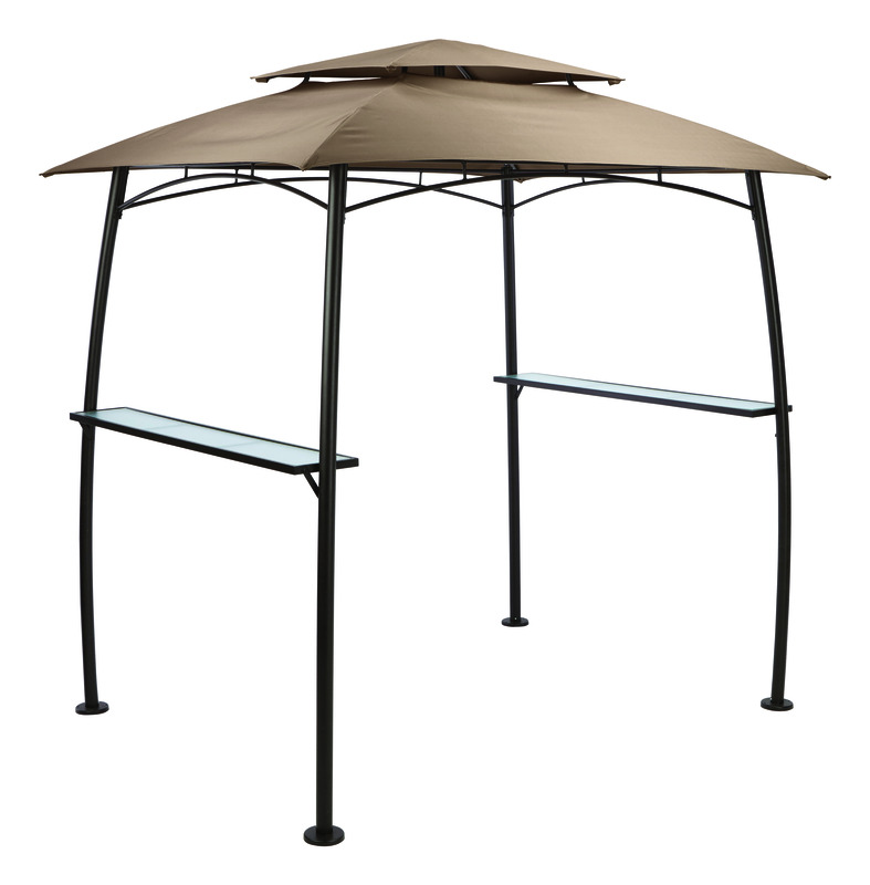 Living Accents  Polyester  BBQ Shelter w/Single Light  85 in. L x 65 in. W