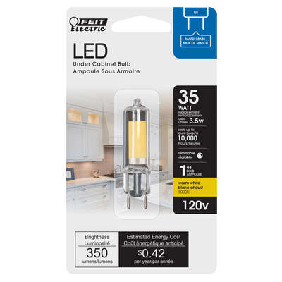 Feit Electric  G8  G8  LED Bulb  Warm White  35 Watt Equivalence 1 pk