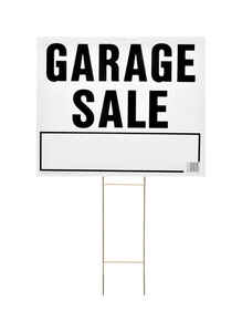 Hy-Ko  English  Garage Sale  Sign  Plastic  24 in. H x 20 in. W