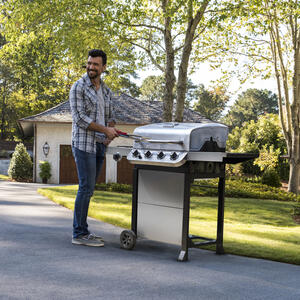 Char-Broil  Performance  4 burners Propane  Grill  Stainless Steel  36000 BTU