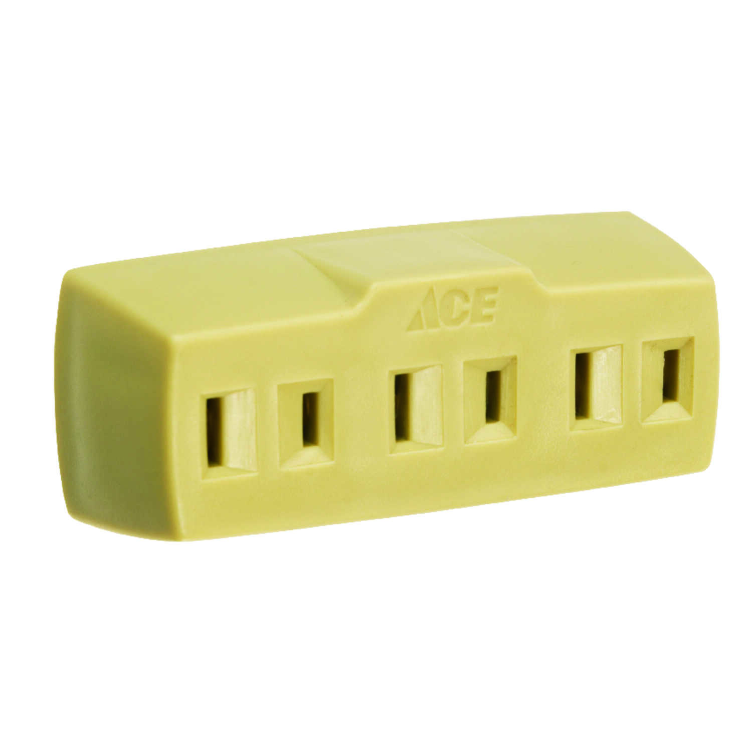 Ace  Polarized  3  1 pk Triple Outlet Adapter  Surge Protection