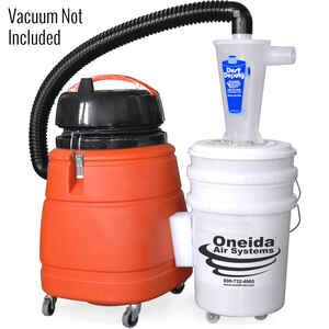 Oneida Air Systems  15  L x 15 in. W x 2 in. Dia. Wet/Dry Vac Cyclone Separator Kit  1 pc.