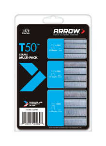 Arrow Fastener  3/8 in. W x Assorted in. L Galvanized Steel  Flat Crown  Heavy Duty Staple Assortmen