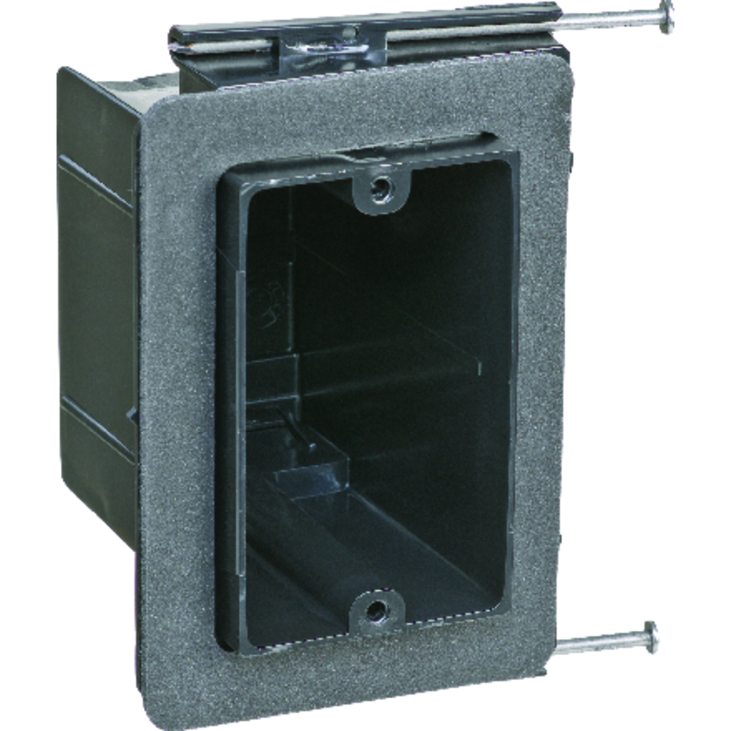 Carlon  Rectangle  Plastic  3-5/8 in. Electrical Box  Black  1 Gang
