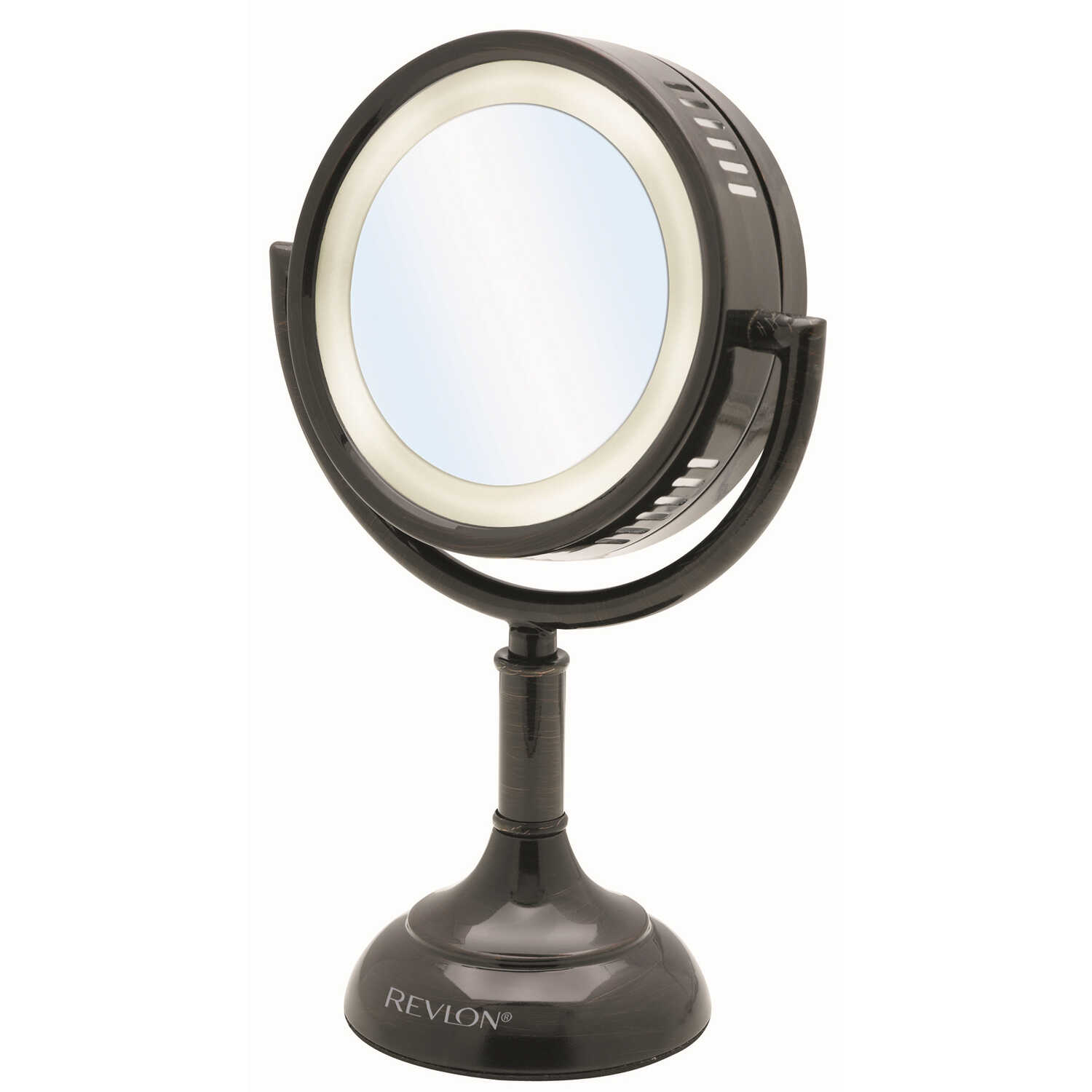 Revlon  12.2 in. H x 8.5 in. W Pedestal  Bathroom Mirror  Oil-Rubbed Bronze  Brown
