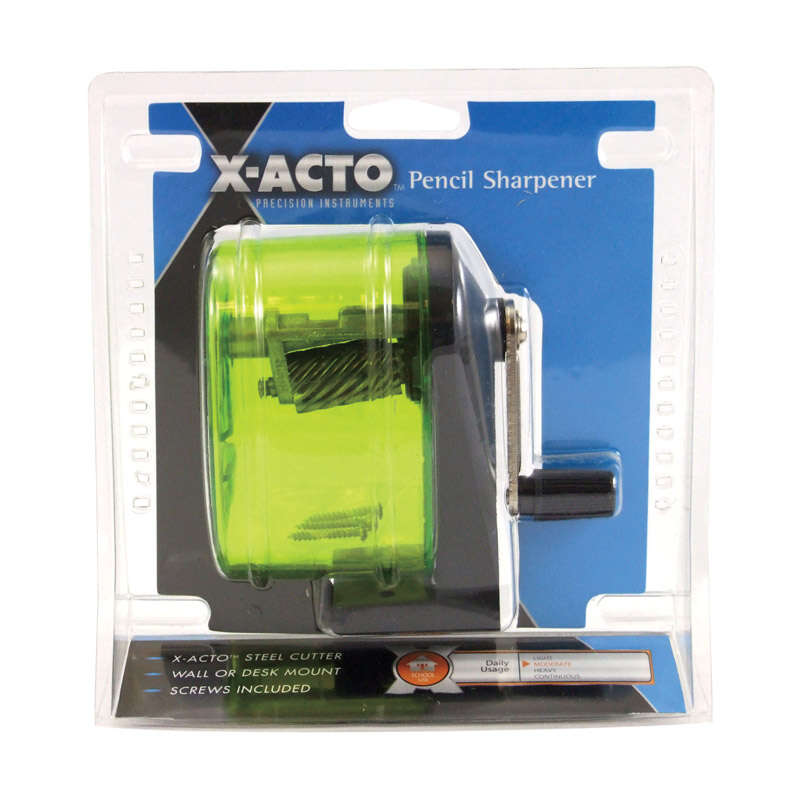 X-Acto Bulldog Yellow Manual Pencil Sharpener