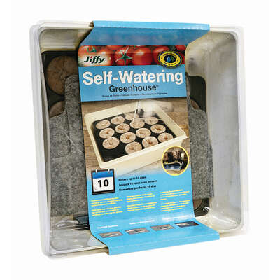 Jiffy Self-Watering Peat Pellet Greenhouse 1 pk