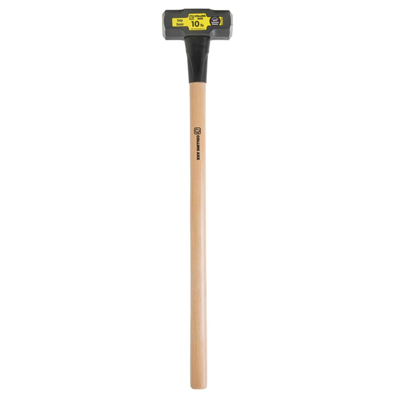 Collins  10 lb. Forged High Carbon Steel Head Sledge Hammer  36 in. L x 2.65 in. Dia.