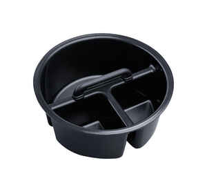 YETI  LoadOut  0 cups Bucket Caddy  Black