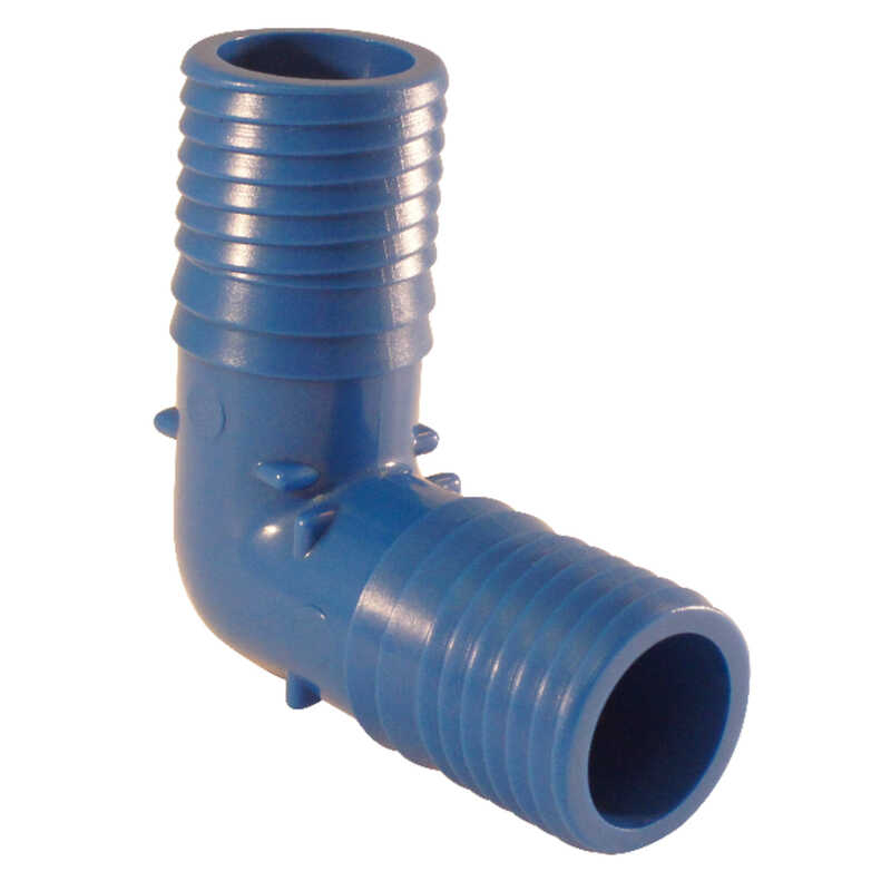 Apollo  Insert   x 1 in. Dia. Insert  Polypropylene  Irrigation 90 Degree Elbow