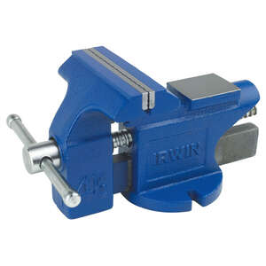 Irwin  4.5 in. Steel  Bench Vise  Blue