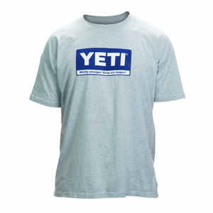 YETI  S  Short Sleeve  Men's  Crew Neck  Gray  Tee Shirt