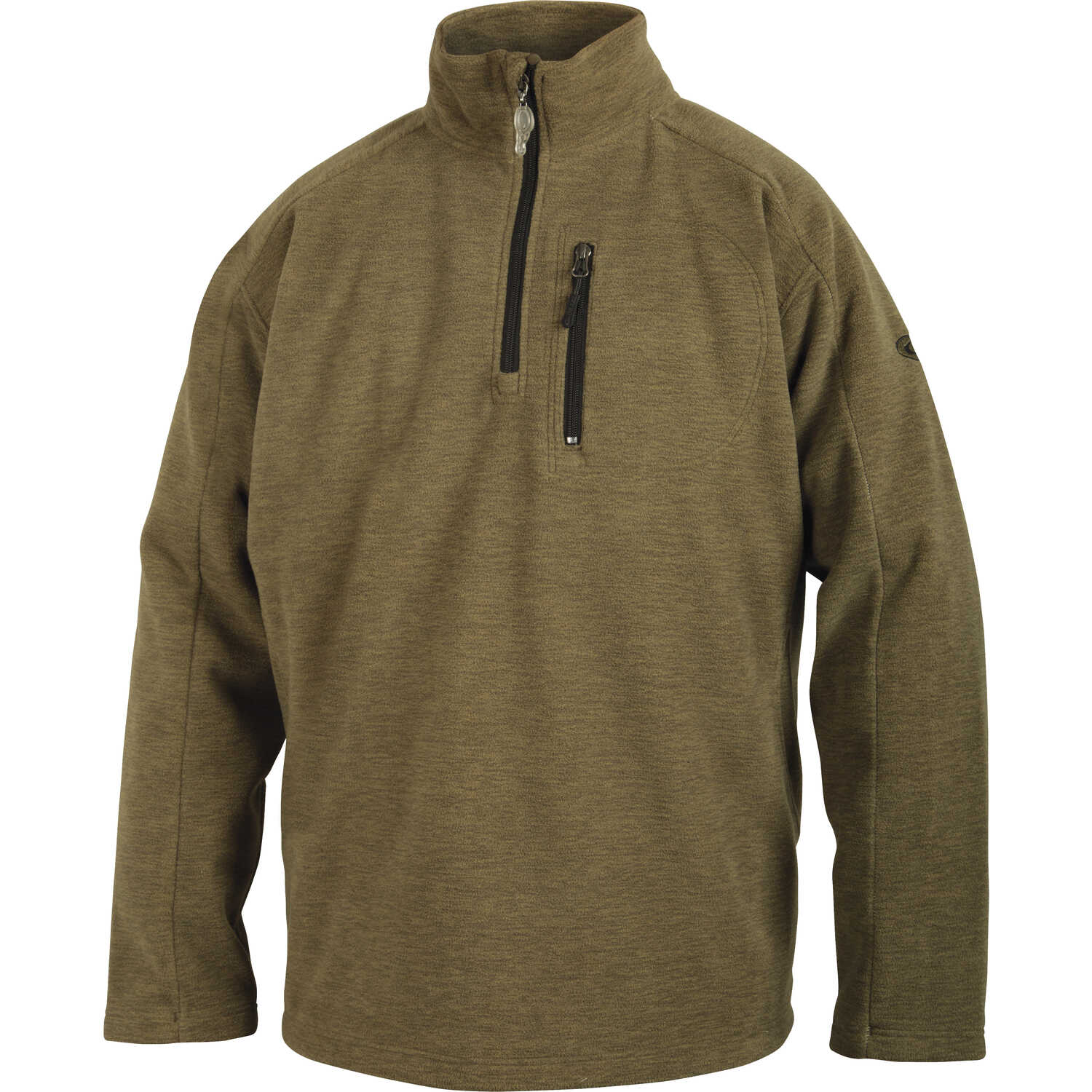 Drake  MST  S  Long Sleeve  Men's  Quarter Zip  Heathered Sage  Pullover
