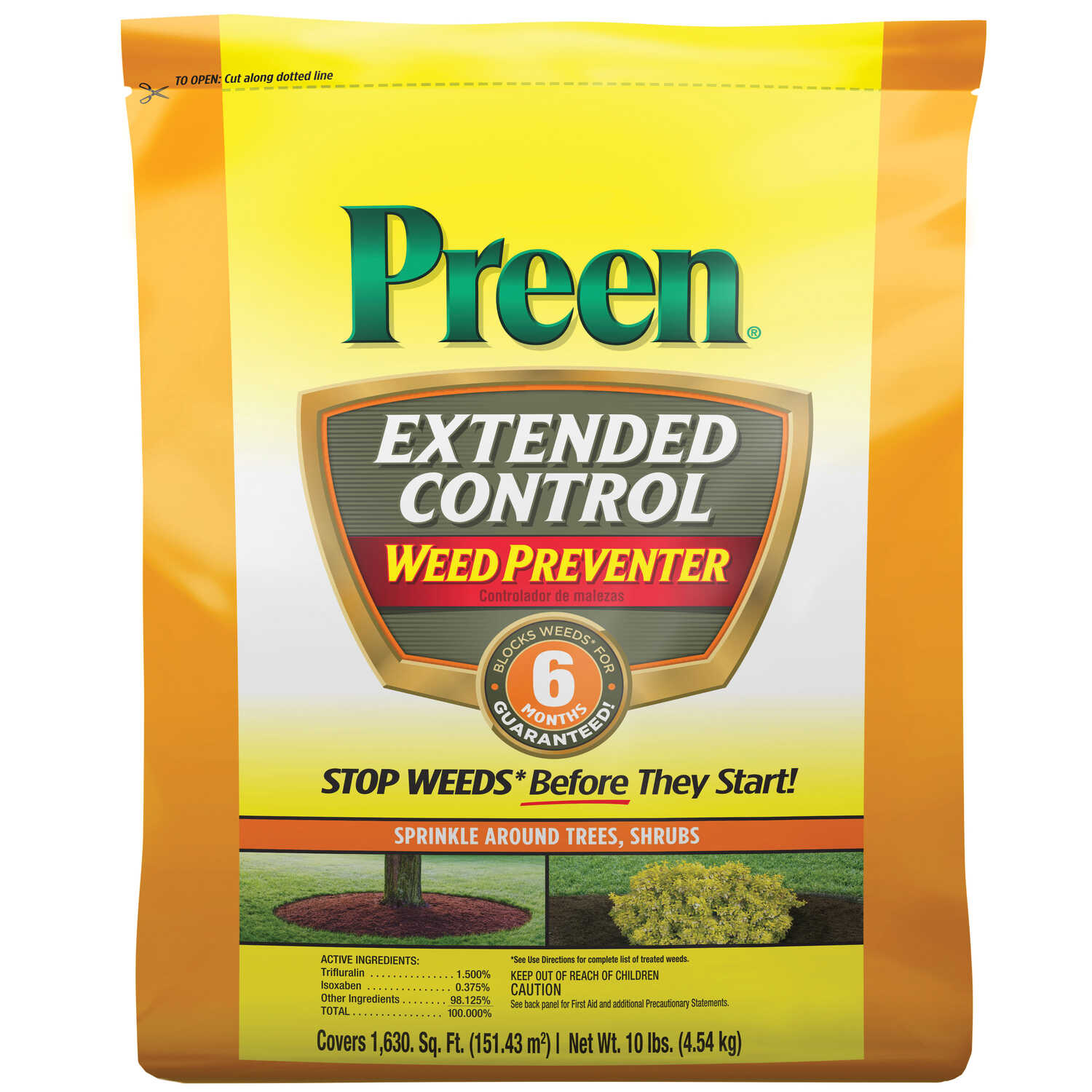 Preen  Extended Control  Granules  Weed Preventer  10 lb.