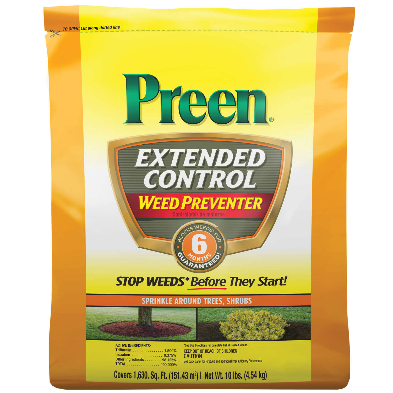 Preen  Extended Control  Weed Preventer  Granules  10 lb.