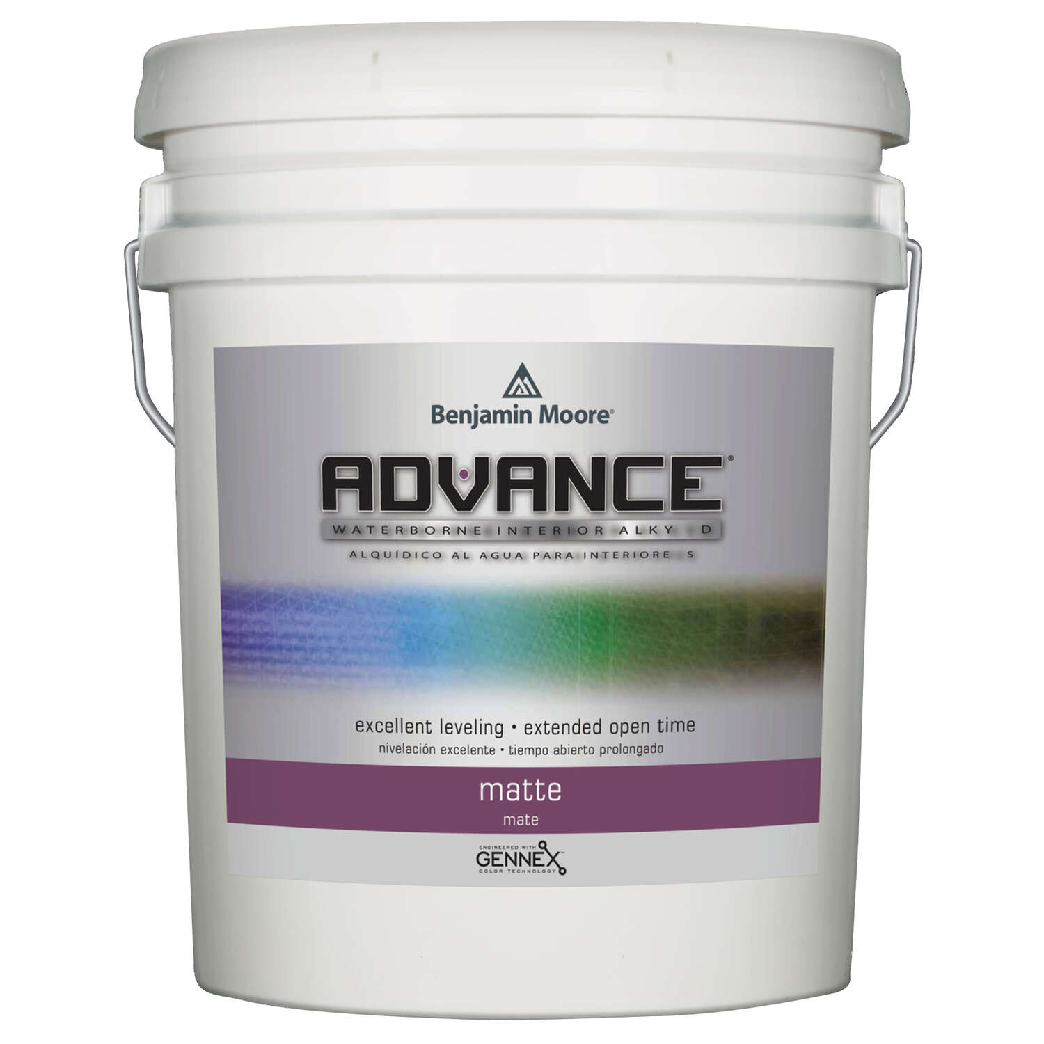 Benjamin Moore  Advance  Matte  Base 1  Alkyd/Styrene Acrylate  Paint  Interior  5 gal.