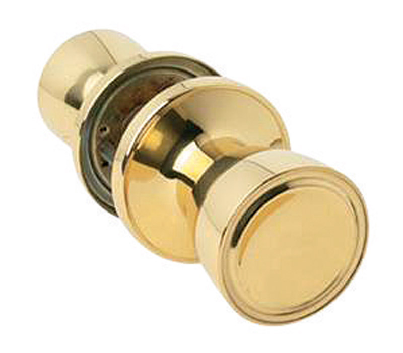 Home Plus  Polished Brass  Steel  Passage Lockset  1-3/4 in. ANSI Grade 3