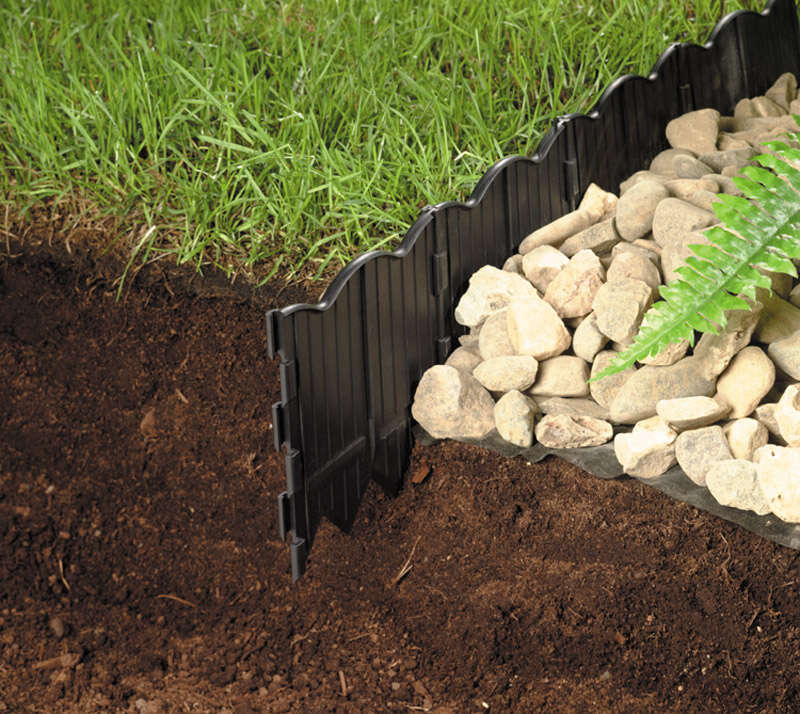 Master Mark  20 ft. L x 6 in. H Lawn Edging  Black  Plastic