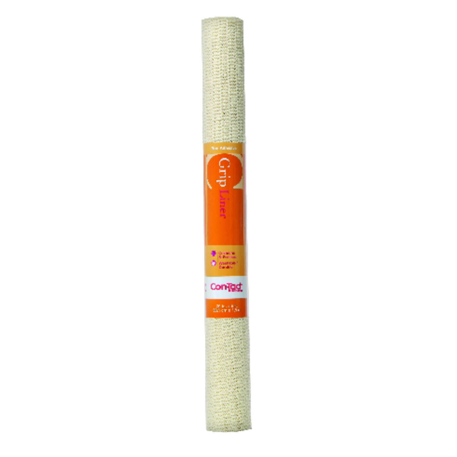 Con-Tact  Grip Liner  5 ft. L x 20 in. W Almond  Non-Adhesive  Liner