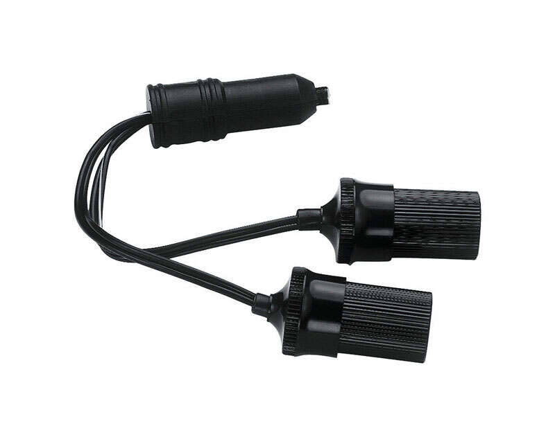Custom Accessories  12 volt Black  Twin Plug -In Accessory Sockets  1 pk