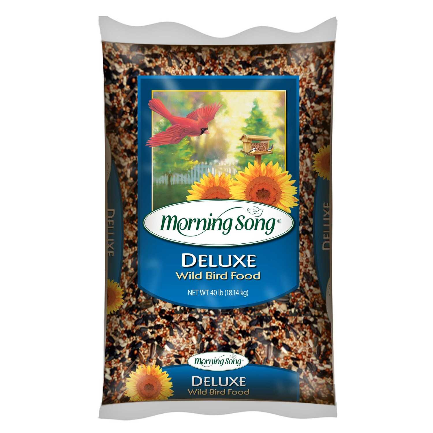 Morning Song  Deluxe  Assorted Species  Wild Bird Food  Black Oil Sunflower  40 lb.