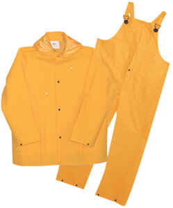 Boss  Yellow  PVC-Coated Polyester  Rain Suit  L