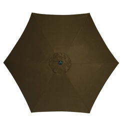 Living Accents 9 ft. Tiltable Brown Market Umbrella