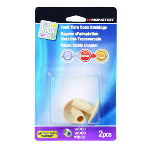 Monster Just Hook It Up  0 in. Bushing  PVC  2 pk