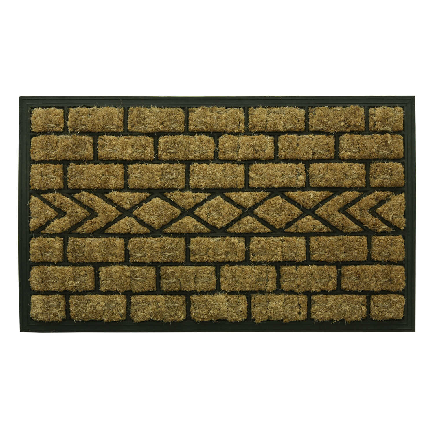Bacova  Brown  Coir  Door Mat  29-1/2 in. L x 19-1/2 in. W