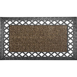 GrassWorx  French Quarter Style  Sandbar  Polyethylene/Rubber  Nonslip Door Mat  30 in. L x 18 in. W